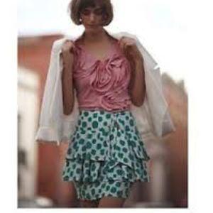 Anthropologie Edme & Esylle Landing Fields Skirt